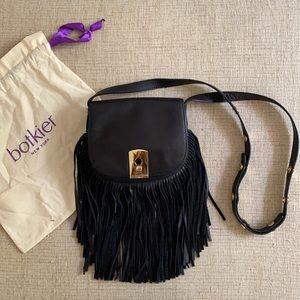BOTKIER - Fringe leather Crossbody Bag Black